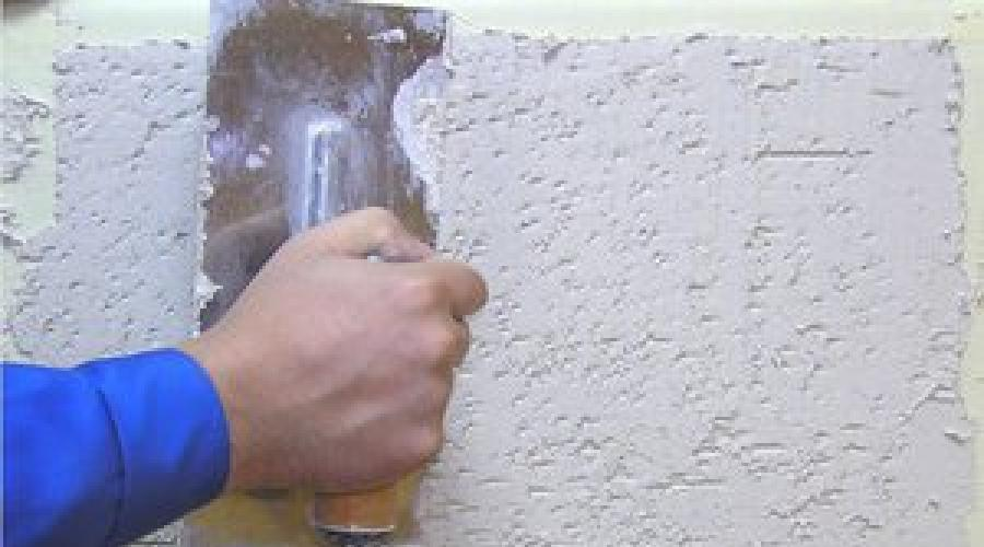 What a decorative plaster is good. Plaster Coroed: Material Features and  Application Technology